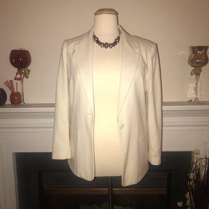Sag Harbor   Single Button White Blazer